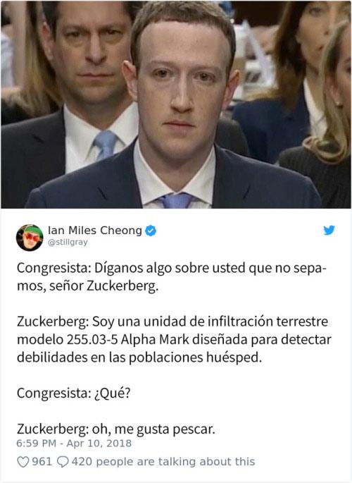 Los mejores memes sobre la comparecendia de Mark Zuckerberg en el Senado