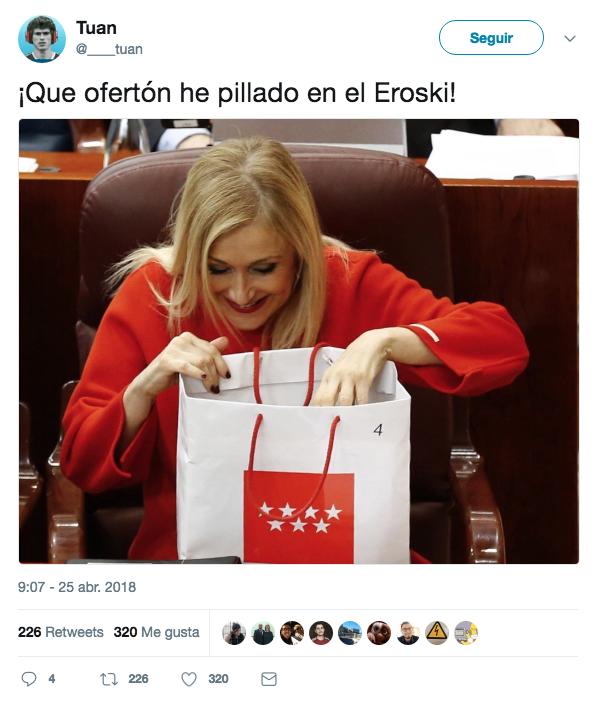 Los mejores memes y bromas sobre el robo de cremas de Cristina Cifuentes