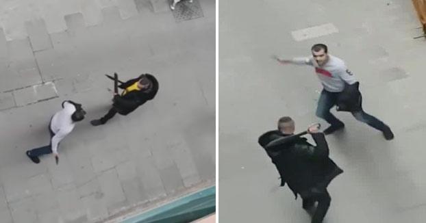 Un vecino graba una pelea con un machete y un cuchillo en el barrio del Raval de Barcelona [Vídeo]