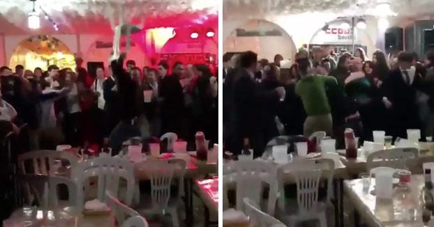 Pelea a sillazos en la caseta de CCOO en la Feria de Abril de Sevilla [Vídeo]