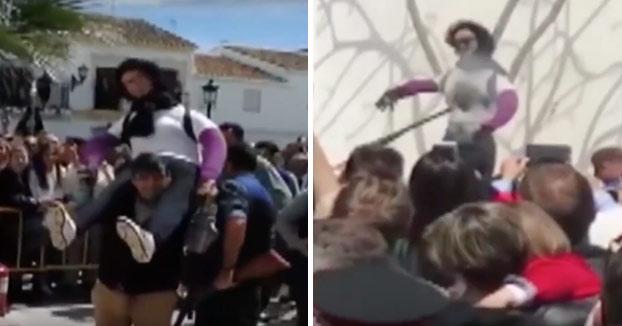 Polémica en la 'Quema de San Judas' tras el tiroteo a un muñeco de Ana Julia