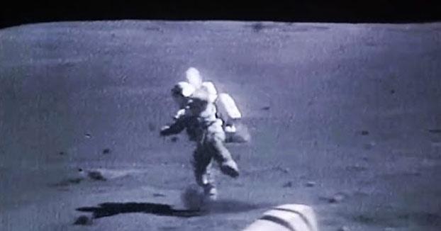 Recopilación de caídas de astronautas en la Luna