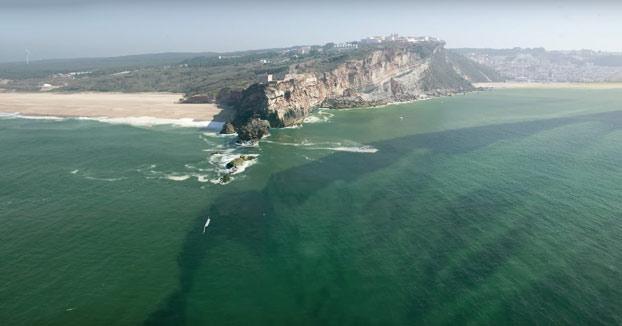 Cómo se forma la gran ola de Nazaré