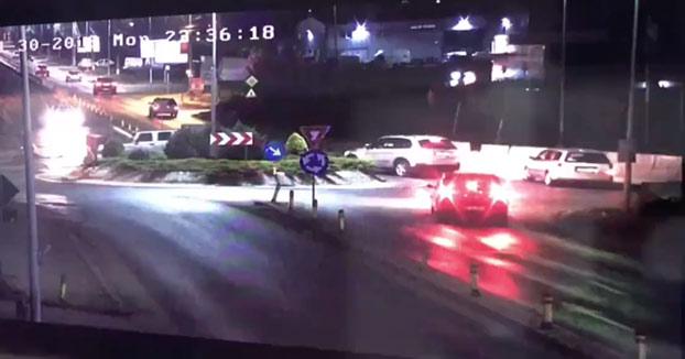 Conductor borracho coge la rotonda de frente sin reducir la marcha [Vídeo]