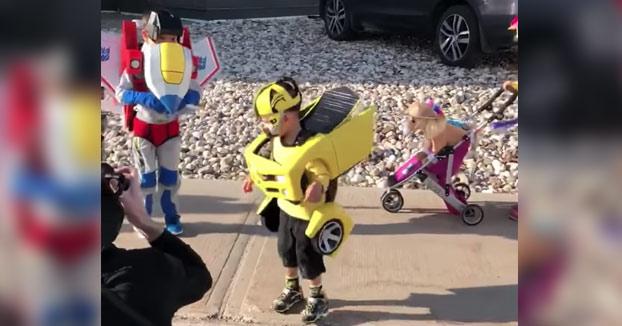 Adorables cosplays de Transformers