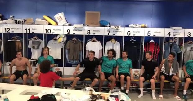 Enzo, el hijo de Marcelo, desata la locura en el vestuario del Real Madrid