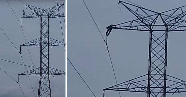 Un joven muere electrocutado al subirse a lo alto de una torre de alta tensión