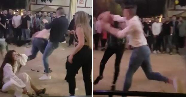 Pelea entre varios jóvenes en la Feria de Jerez