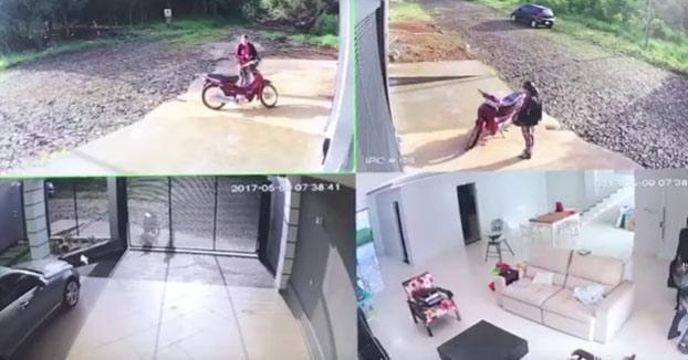 Mira lo que hace este hombre cuando pilla a unos ladrones saliendo de su casa justo cuando llegaba en coche