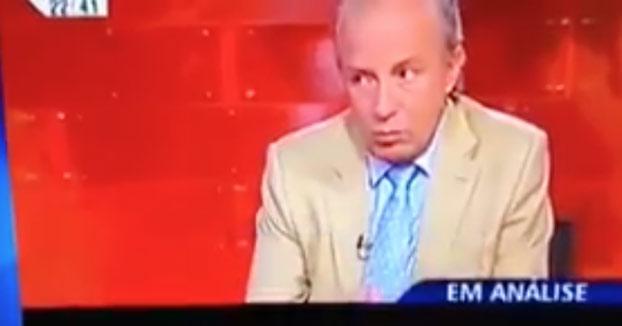 El ex primer ministro del PSD portugués no se anda con mierdas cuando le interrumpen la entrevista por una chorrada
