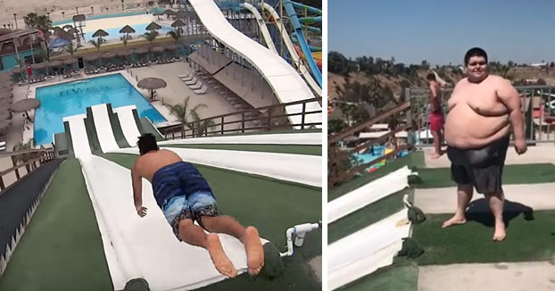 'Slip n Fly', un tobogán acuático de Tijuana en el que antes de caer al agua vuelas