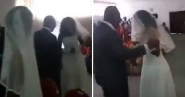 La amante interrumpe la boda de su 'novio' vestida de novia