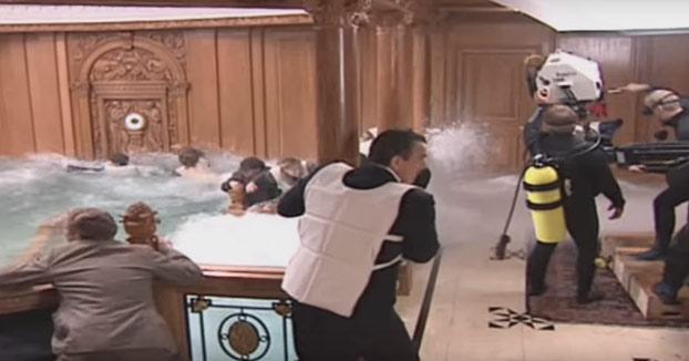 Detrás de las cámaras: Así es cómo se grabó el hundimiento del Titanic