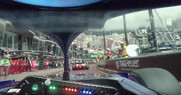 La F1 prueba una cámara onboard en el casco del piloto Pierre Gasly en el Gran Premio de Mónaco
