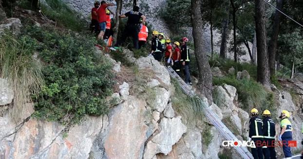Fallece un ciclista tras chocar con una cabra y caer por un precipicio de 20 metros en Mallorca
