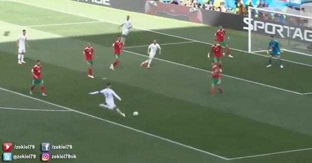 Lo que en realidad pasó en el partido de Portugal contra Marruecos