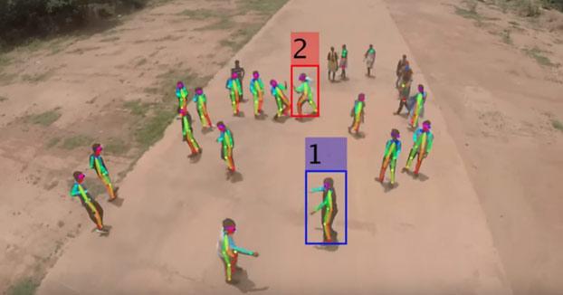 Sistema de vigilancia de drones en tiempo real para identificar a individuos violentos