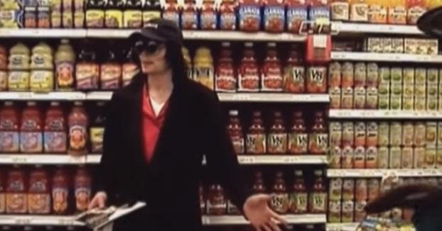 Michael Jackson en el supermercado