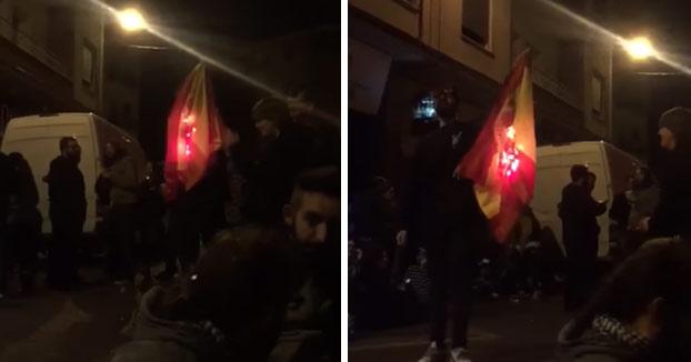 Este no vuelve a quemar una bandera de España en su vida
