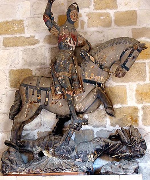 Ya hay nuevo Ecce Homo: La restauración del San Jorge de Estella que enfurece a los expertos