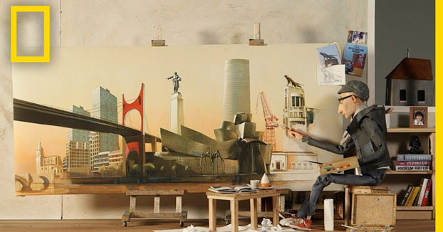 El retrato de un artista de Bilbao, su ciudad natal
