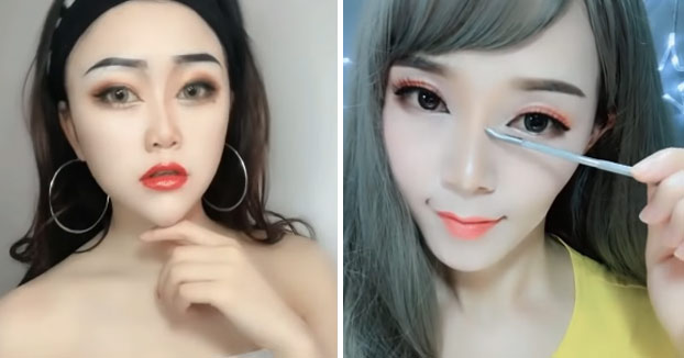 Asiáticas quitándose el maquillaje