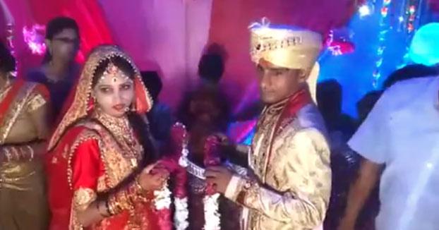 Bofetadas en una boda India