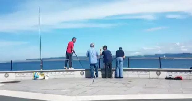 El Caranchoa de Santander. Pescar en Cantabria es deporte de riesgo