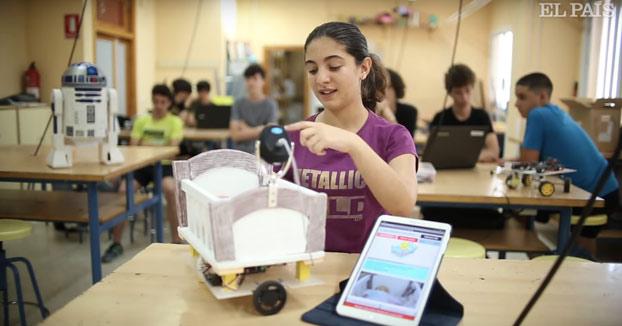 Clase de robótica de un colegio de Sevilla premiado dos veces por sus inventos