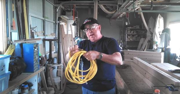 La mejor forma de guardar un cable alargador
