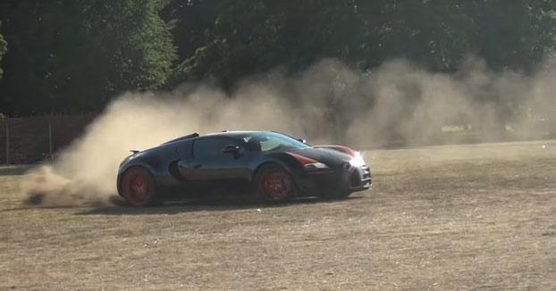 Haciendo rally con un Bugatti Veyron