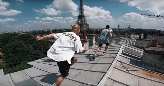 Parkour por los tejados de la ciudad de París