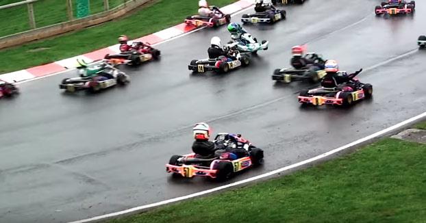Carrera de Super 1 Karting. Mucho más emocionante que la F1