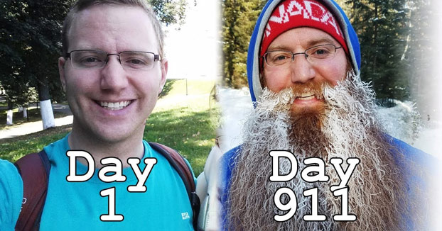 Dos años y medio sin afeitarse