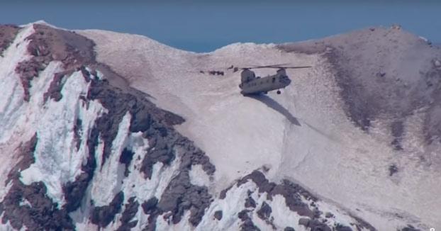 Rescate aéreo en el monte Hood