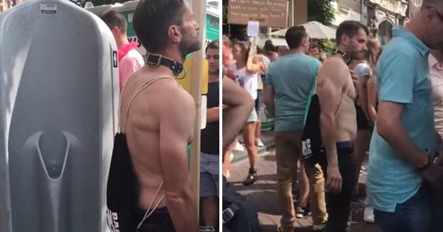 WTF!: Vio que este hombre estaba haciendo algo raro durante el festival y continuó grabándolo