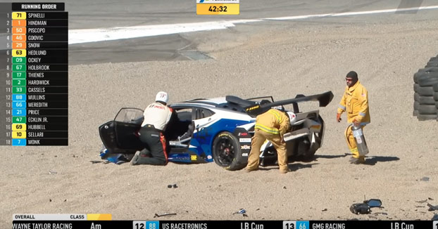 Tremendo accidente de la piloto Sheena Monk. Se estrella con su Lamborghini a 200 km/h