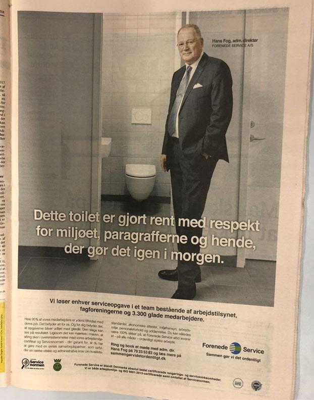 El anuncio de una empresa danesa de limpieza levanta ampollas