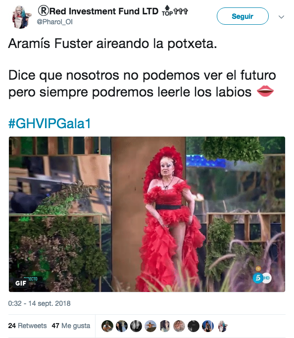 Aramís Fuster entra en la casa de GH VIP enseñando todo el potorro