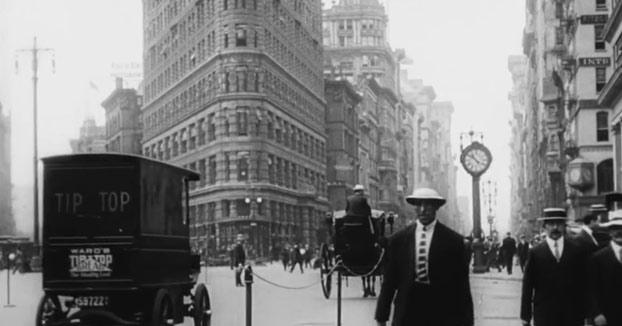Vídeo de la vida diaria en Nueva York en el año 1911