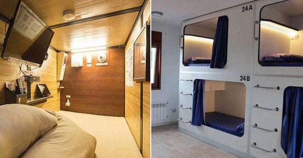 Así son los pisos colmena en Barcelona: habitaciones de 3 metros cuadrados por 200 euros al mes