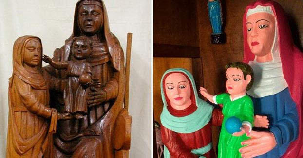 Una vecina de Rañadorio desata la polémica tras restaurar tres tallas románicas datadas en el siglo XV