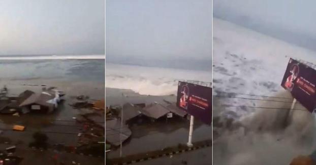 Tsunami en Donggala, Indonesia tras un terremoto de magnitud 7,5
