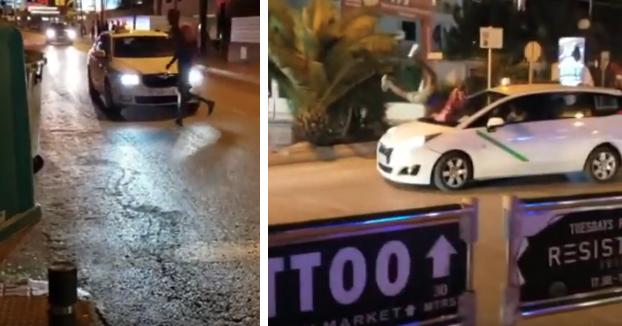 Un turista británico drogado se lanza contra un taxi en marcha en Ibiza