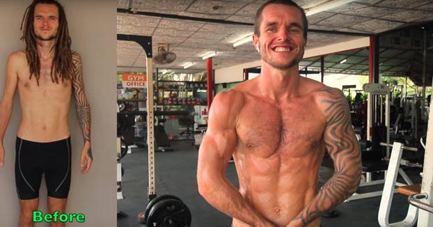 Transformación de su cuerpo después de un año haciendo calistenia