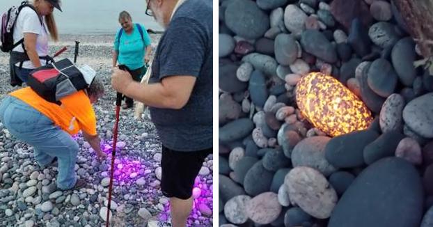 Un hombre de Michigan descubre las ''Yooperlites'', unas piedras que se iluminan con la luz negra