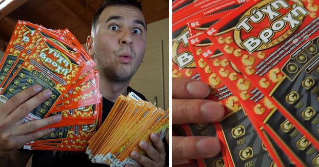 Gasta 10.000 euros en 'rascas' de lotería para ver cuánto gana en premios