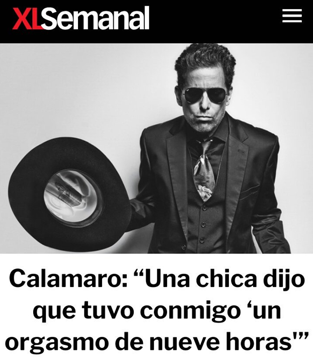 Andrés Calamaro: ''Una chica dijo que tuvo conmigo 'un orgasmo de nueve horas'''