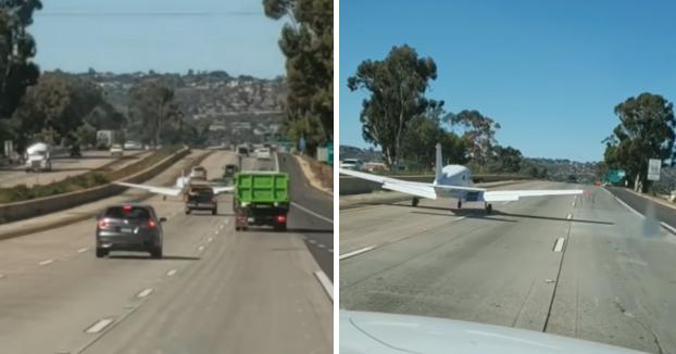 Cuando vas tranquilamente por la autovía y una avioneta aterriza delante tuya