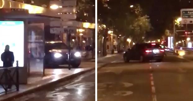 La Policía busca al conductor de un BMW que intentó atropellar a un hombre en la calle Princesa de Madrid